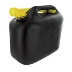 Jerrycan 10 liter zwart plastic