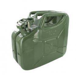 Jerrycan 10 liter groen staal