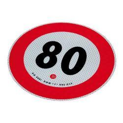 Markeringsbord 80 km/h