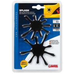 Lampa 3D Splash Decoratie (Zwart)