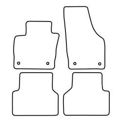 TCP Autospecifieke Pasvorm Automattenset Audi Q3