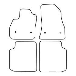 TCP Autospecifieke Pasvorm Automattenset Fiat 500 (005)