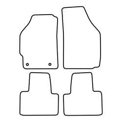 TCP Autospecifieke Pasvorm Automattenset Fiat Punto (002)