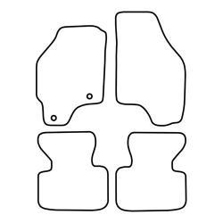 TCP Autospecifieke Pasvorm Automattenset Fiat Punto (004)