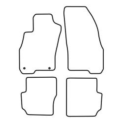 TCP Autospecifieke Pasvorm Automattenset Fiat Punto Evo (001)