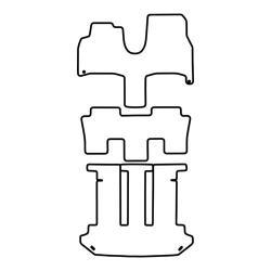 TCP Autospecifieke Pasvorm Automattenset Fiat Ulysse (002)