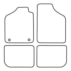 TCP Autospecifieke Pasvorm Automattenset Fiat Uno
