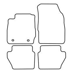 TCP Autospecifieke Pasvorm Automattenset Ford Fiësta (004)
