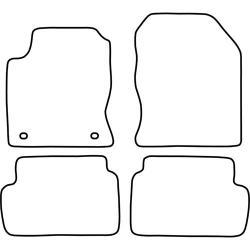 TCP Autospecifieke Pasvorm Automattenset Ford Focus (001)