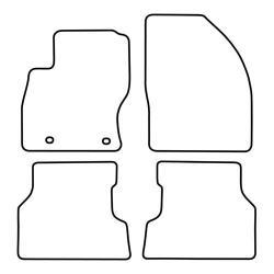 TCP Autospecifieke Pasvorm Automattenset Ford Focus (004)