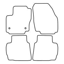 TCP Autospecifieke Pasvorm Automattenset Ford Kuga (003)
