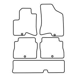 TCP Autospecifieke Pasvorm Automattenset Hyundai Santa Fe (003)