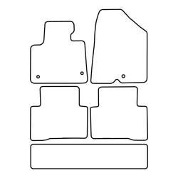 TCP Autospecifieke Pasvorm Automattenset Hyundai Santa Fe (007)
