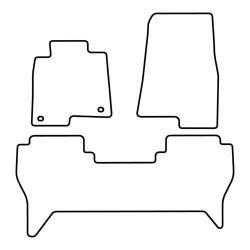 TCP Autospecifieke Pasvorm Automattenset Mitsubishi Pajero (004)
