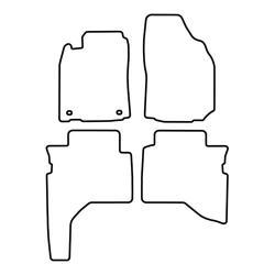 TCP Autospecifieke Pasvorm Automattenset Mitsubishi Pajero (007)