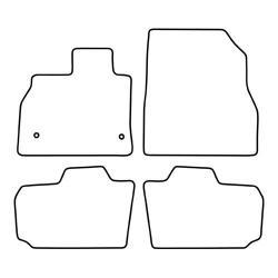 TCP Autospecifieke Pasvorm Automattenset Nissan Leaf (001)