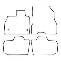 TCP Autospecifieke Pasvorm Automattenset Nissan Leaf (002)
