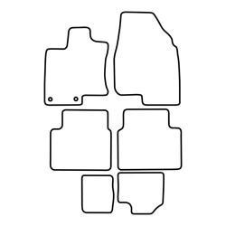TCP Autospecifieke Pasvorm Automattenset Nissan Qashqai +2 7 pers.