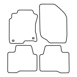 TCP Autospecifieke Pasvorm Automattenset Nissan Xtrail (001)
