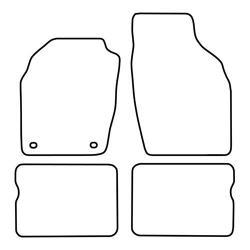 TCP Autospecifieke Pasvorm Automattenset Opel Agila (001)