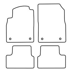 TCP Autospecifieke Pasvorm Automattenset Opel Astra (004)