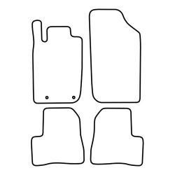 TCP Autospecifieke Pasvorm Automattenset Peugeot 206 (002)