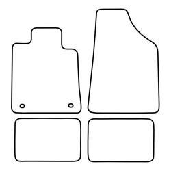 TCP Autospecifieke Pasvorm Automattenset Renault 25