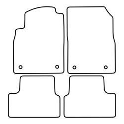 TCP Autospecifieke Pasvorm Automattenset Opel GTC