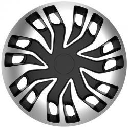 Sparco Wieldoppenset Fast-VAN 15'' inch Zwart/Zilver