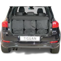 CAR-BAGS Reistassenset Volkswagen Tiguan (2007 - 2015) Diepe Laadvloer